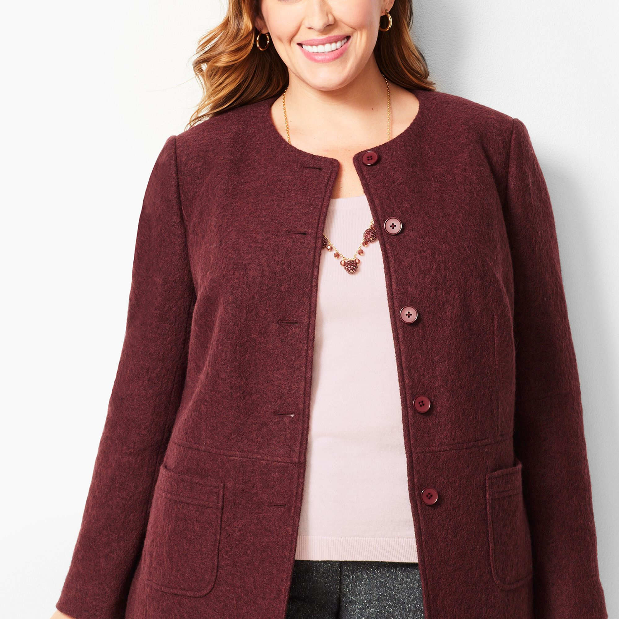 2bb8e0721b6 Boiled Wool Jacket - Solid