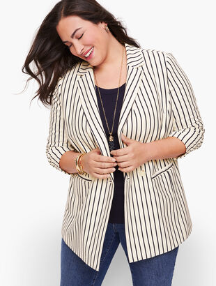 Stripe Knit Blazer