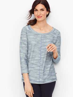 Textured Tie Back Pullover