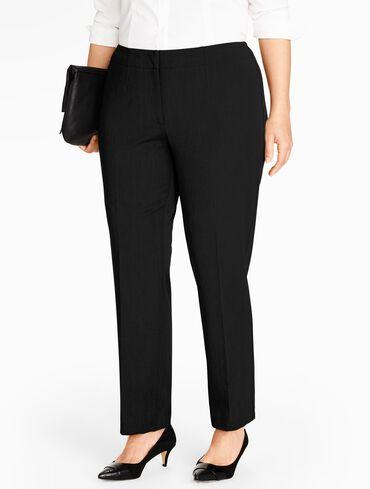 Plus Size Refined Bi-Stretch Tailored Straight-Leg Pants