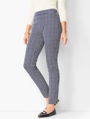 Talbots Chatham Ankle Pants - Geo Print