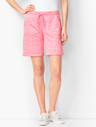 Striation Roll-Cuff Shorts