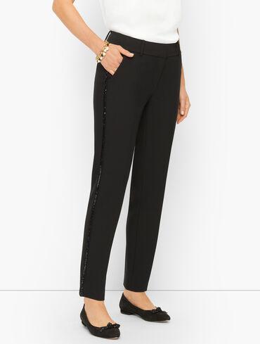 Plus Size Exclusive Talbots Hampshire Ankle Pants - Sequin Stripe