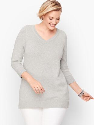 Double V Tie Back Sweater - Shimmer