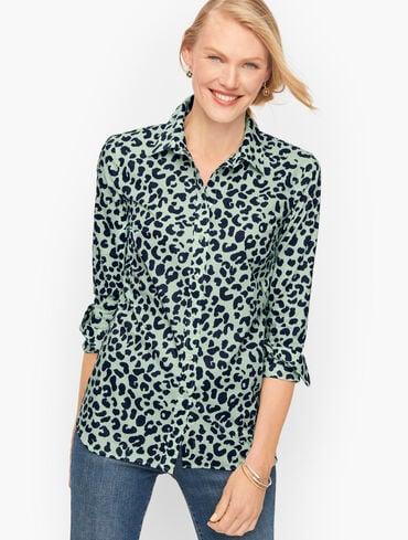 Classic Cotton Shirt - Graphic Cheetah