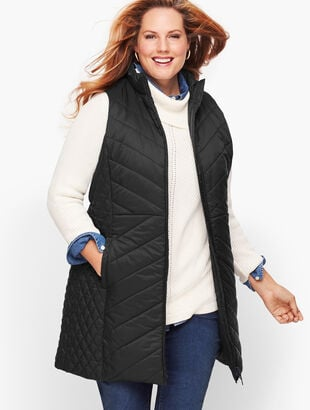 Down Alternative Long Puffer Vest