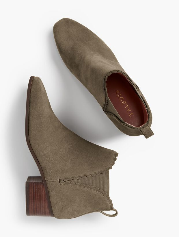f4cc5a73c7d Dakota Suede Scallop-Edge Ankle Boot