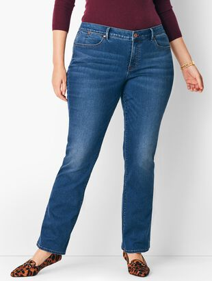 Plus Size High-Waist Barely Boot Jeans - Nestor Wash
