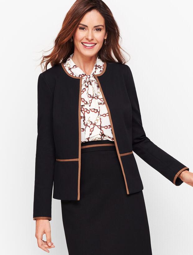 Italian Luxe Knit Tipped Jacket