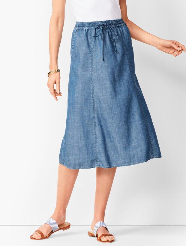 Drawstring Midi Skirt