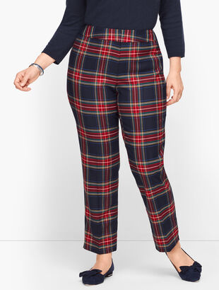 Plus Size Talbots Hampshire Ankle Pants - Wishful Plaid