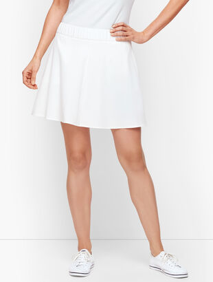 Lightweight Stretch Woven Skort - White