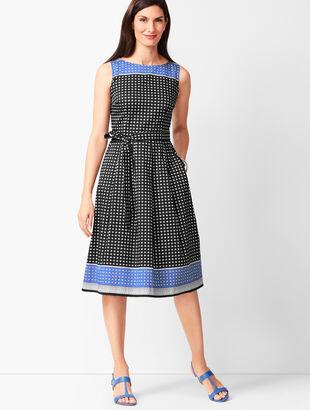 Geo-Print Fit & Flare Dress