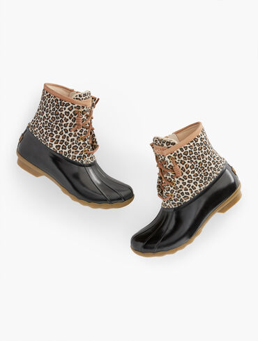 Sperry® Saltwater All Weather Boots - Animal Print