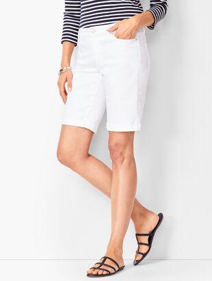 Girlfriend Jean Shorts - White