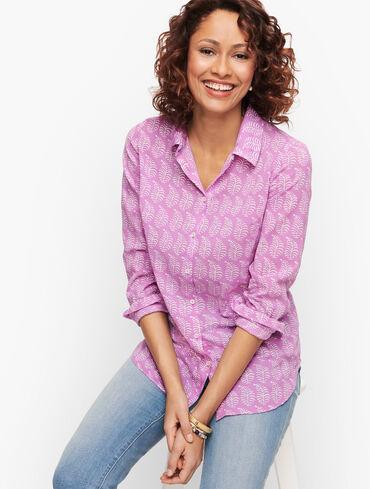 Classic Cotton Shirt - Frond Paisley