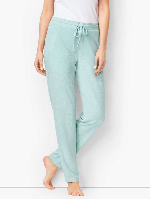 Brushed Mélange Slim-Leg Pants