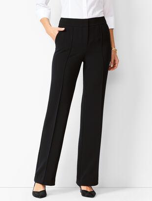 Crepe Wide-Leg Trousers