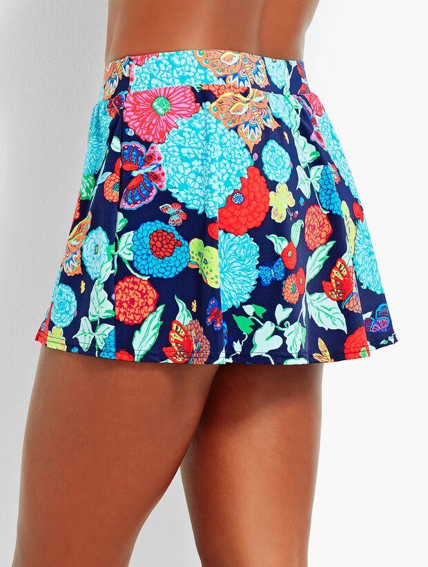 Floral Vented Swim Skirt