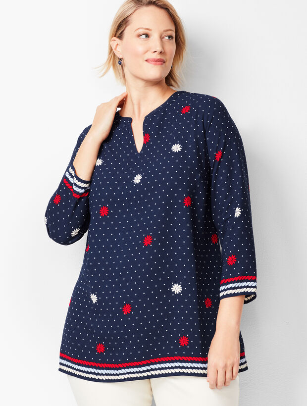 Dotted Floral Popover