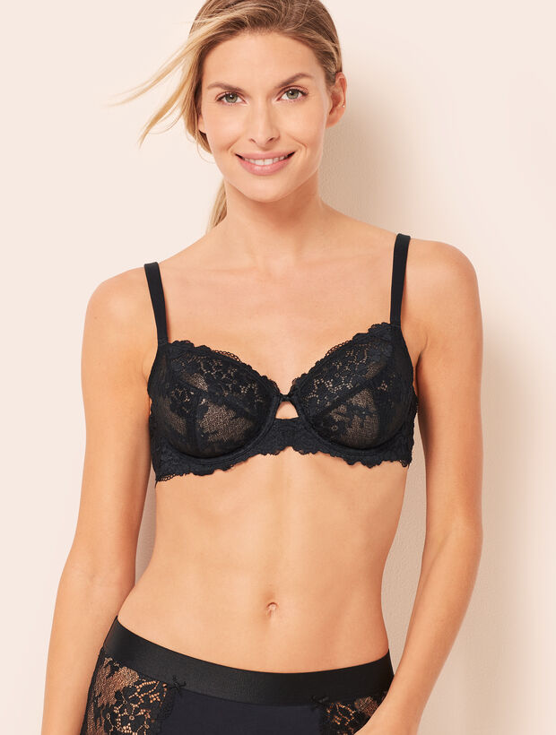 Balconette Unlined Lace Bra