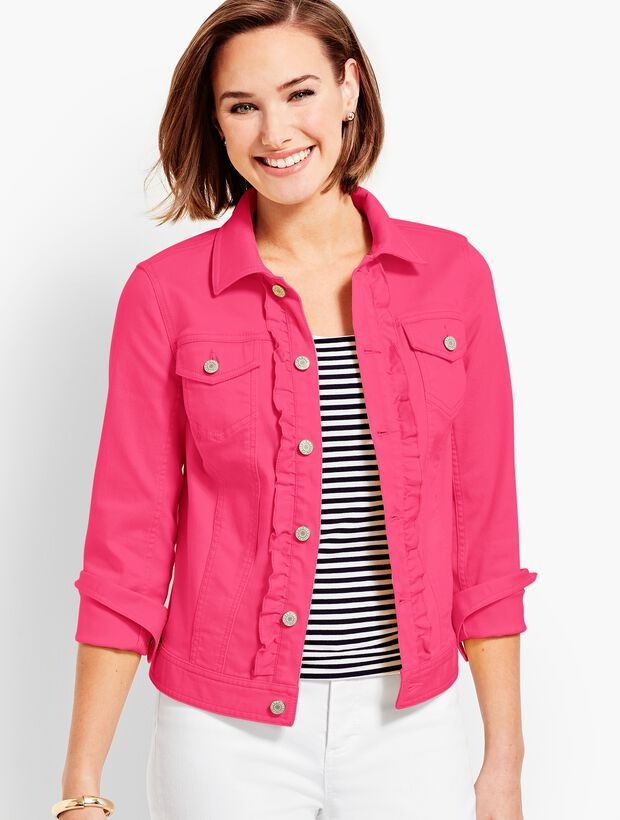 Classic Denim Jacket - Ruffle-Front