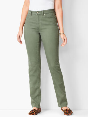 High-Waist Straight-Leg Jeans - Curvy Fit - Summer Sage