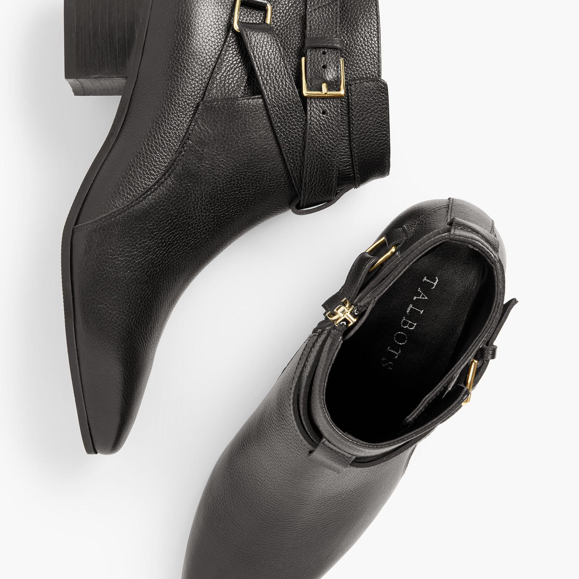 009b785b5f1d Images. Dakota Block Heel Ankle Boots - Pebble Leather
