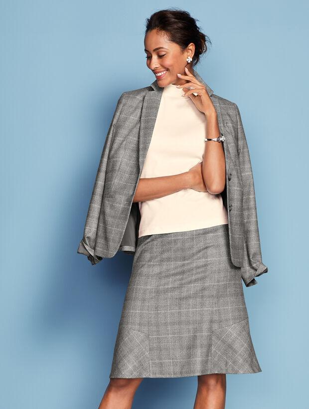 Luxe Glen Plaid Skirt
