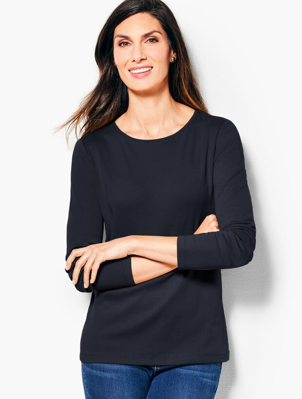 362ead58 Long-Sleeve Crewneck Tee-Solid | Talbots