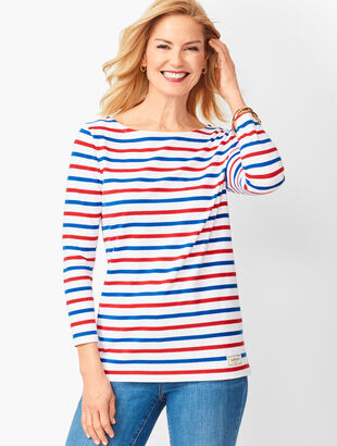 Breton Stripe Authentic Talbots Tee