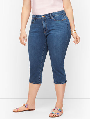 Plus Size Exclusive Pedal Pusher Jeans - Gates Wash