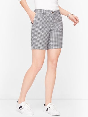 "Relaxed Chino Shorts - 7"" - Gingham"