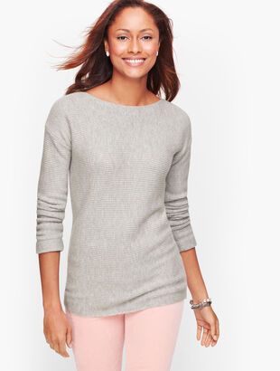 Horizontal Shaker Stitch Sweater