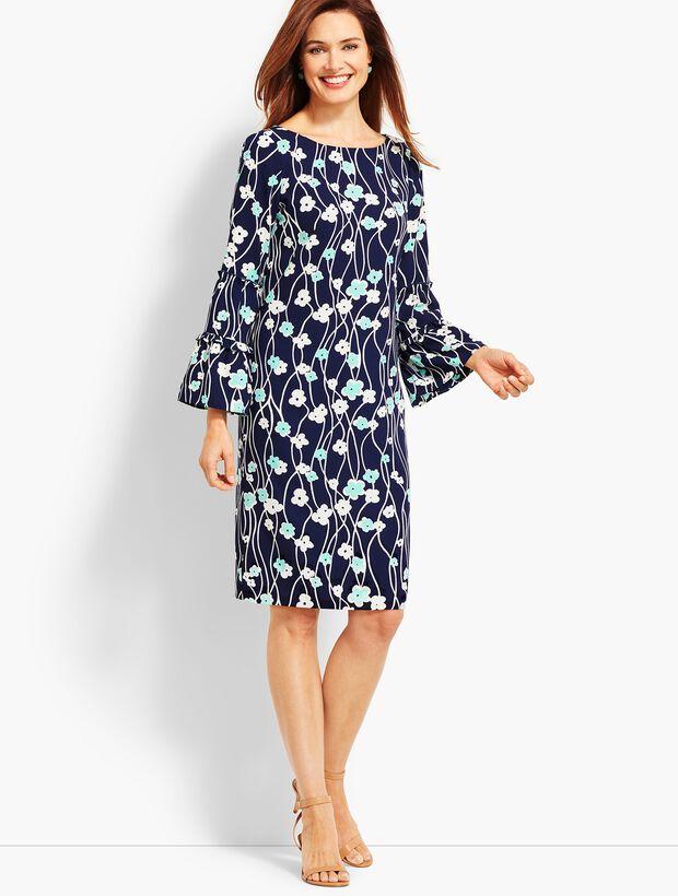 Print Blossoms Shift Dress