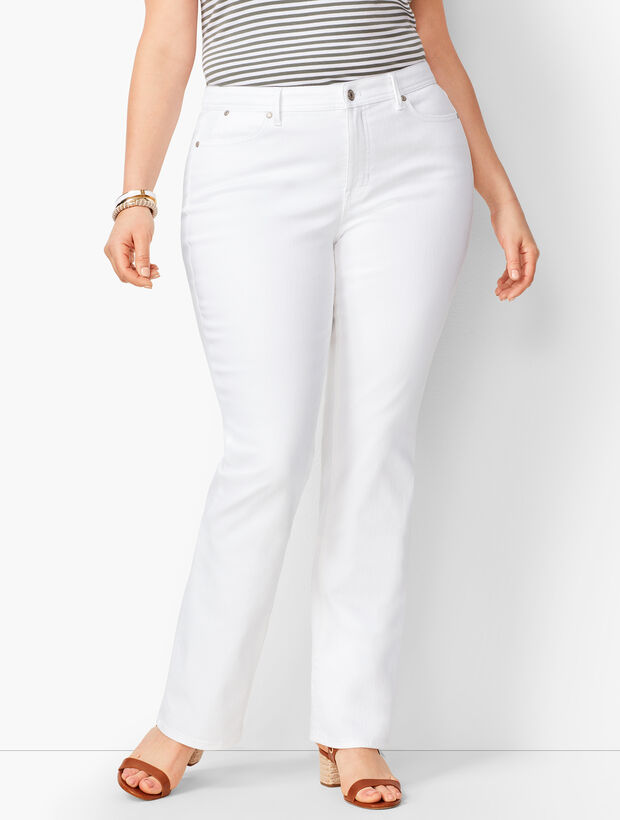 High-Waist Barely Boot Jeans -  White