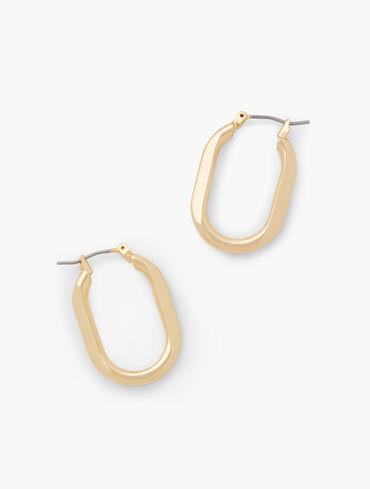 Sculptural Oval Hoop Earring