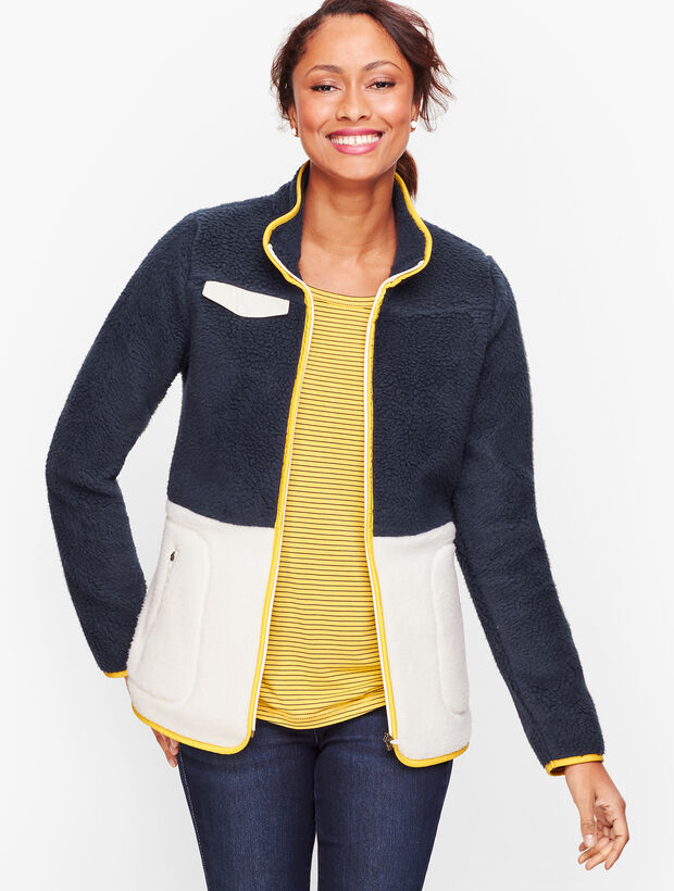 Sherpa Jacket - Colorblock