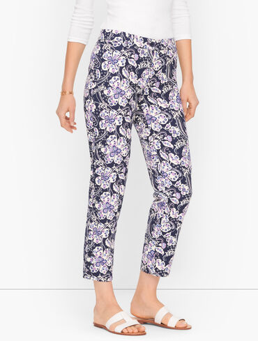 Perfect Crops - Floral - Curvy Fit