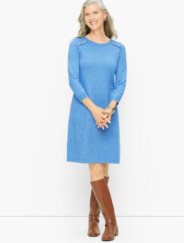 Kitty Tweed Shift Sweater Dress