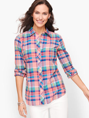Classic Cotton Shirt - Madras