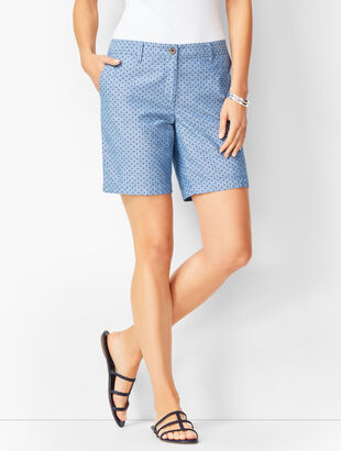 Girlfriend Shorts - Chambray Dot