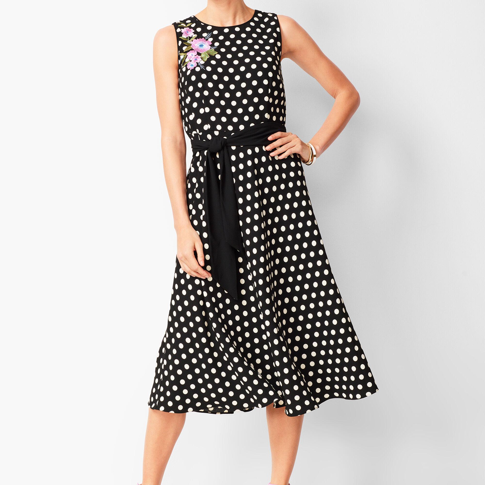 30c7add35fa27 Polka Dot Fit & Flare Dress Opens a New Window.