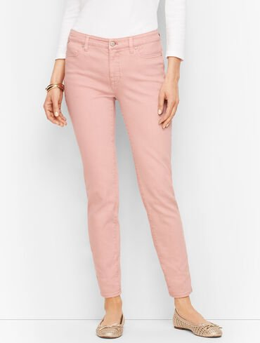 Slim Ankle Jeans - Garment-Dyed Frosted Rose