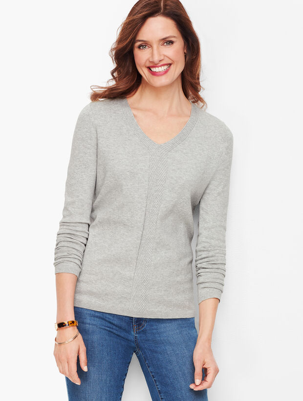 Chevron Detail Sweater