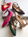 Edison Jewel Suede Strappy Flats