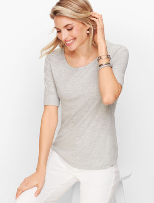 Roll Cuff Tee - Shimmer