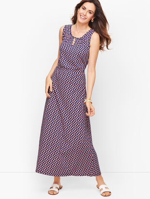 Jersey Maxi Dress - Daisy Print