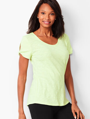 Twist-Sleeve Tee - Solid