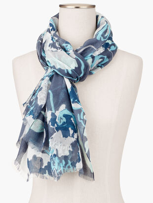 Tossed Floral Scarf